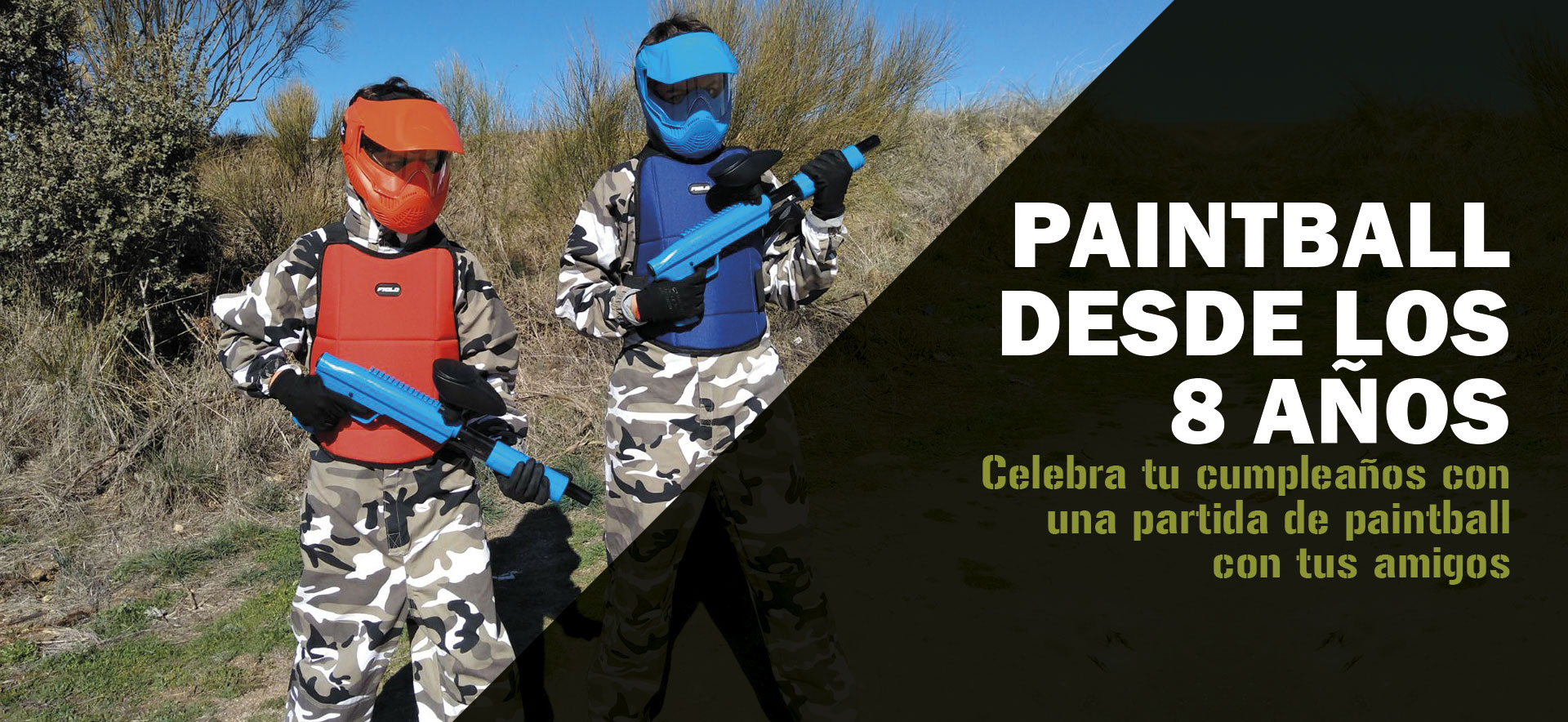 Paintball a partir de 9 años en Madrid