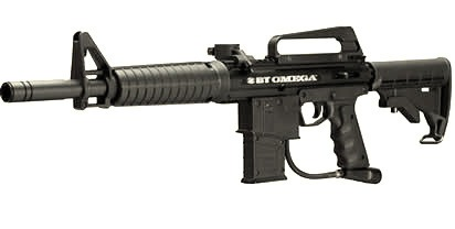 Marcadora M-16, ametralladora, para paintball. Disfruta de Paintball Madrid.