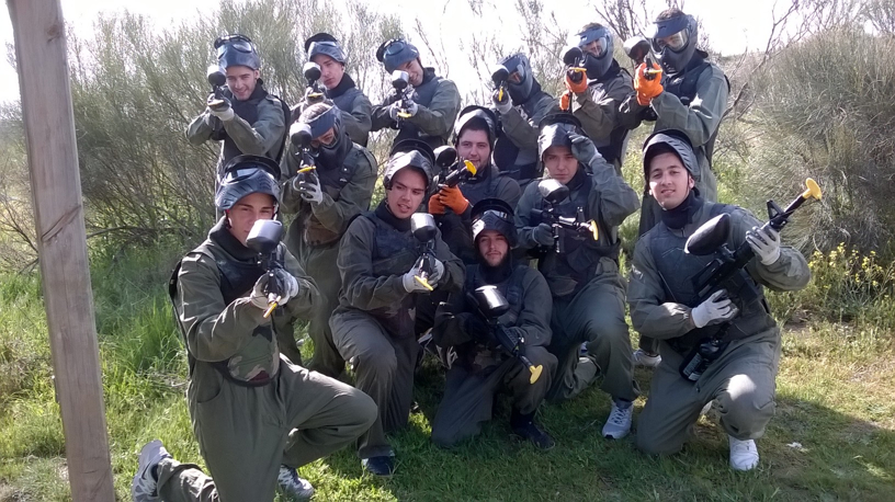 Equipo de paintball adulto del sur de Indiana